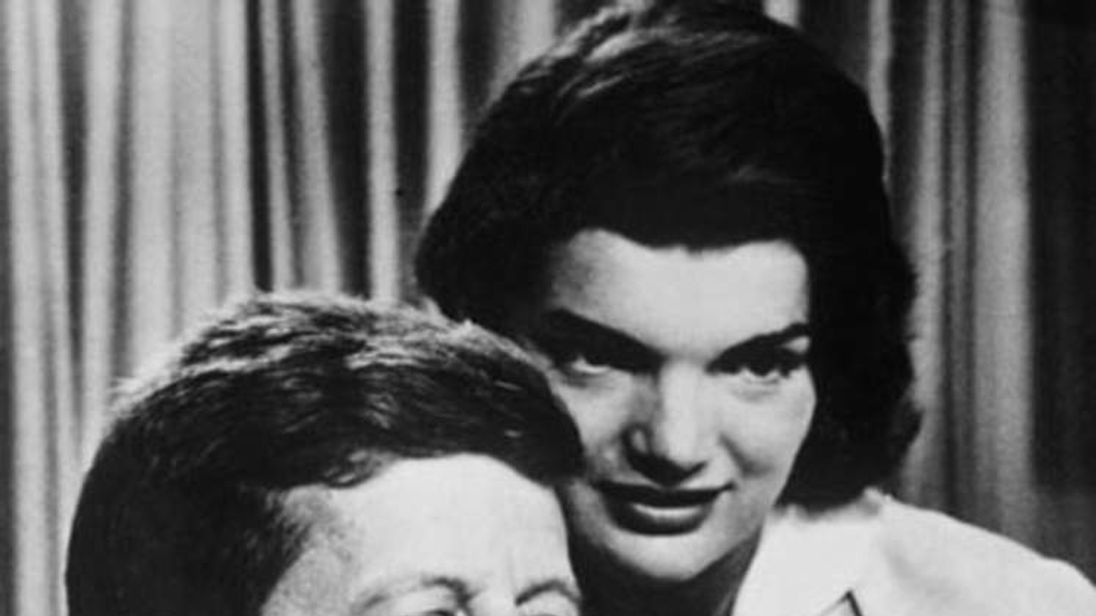John F. Kennedy with his wife Jacqueline Bouvier Kennedy