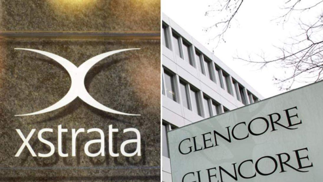 Glencore and Xstrata logos