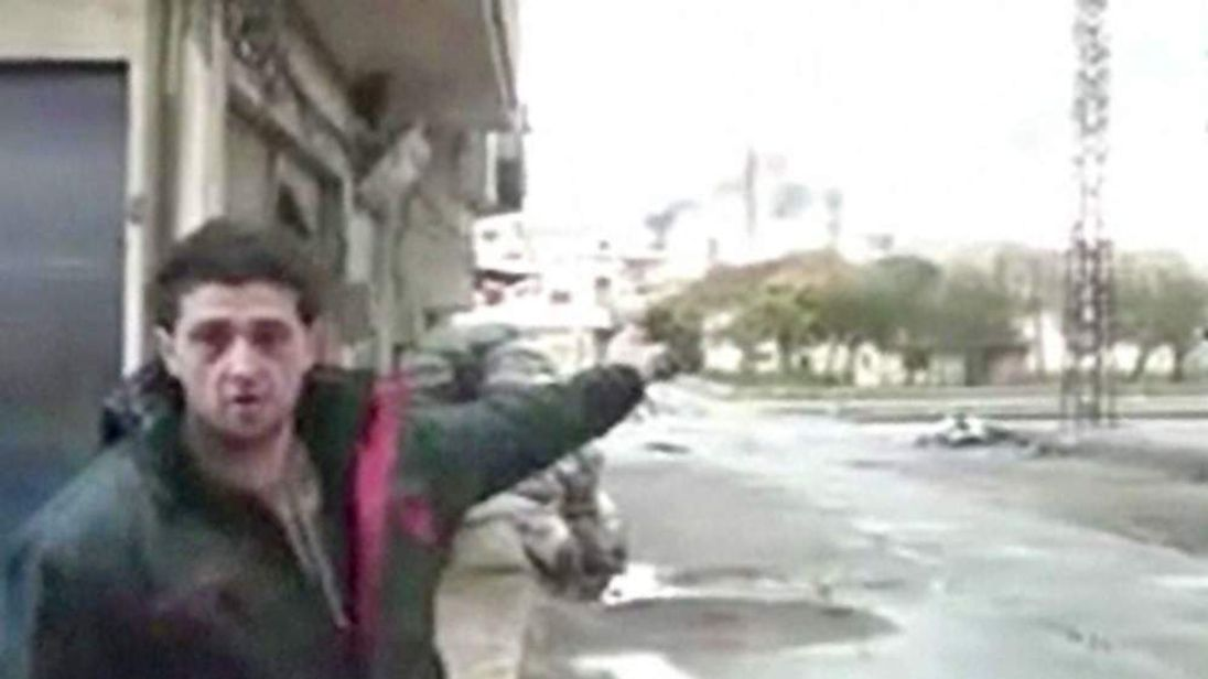 Protester in Syria