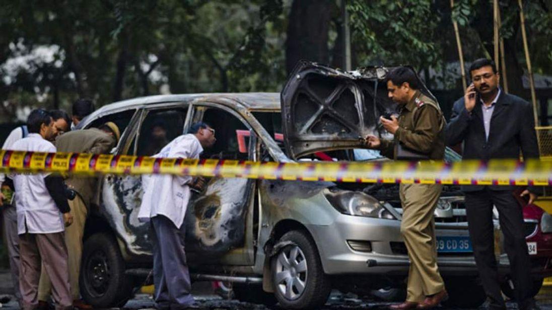 The car in Delhi