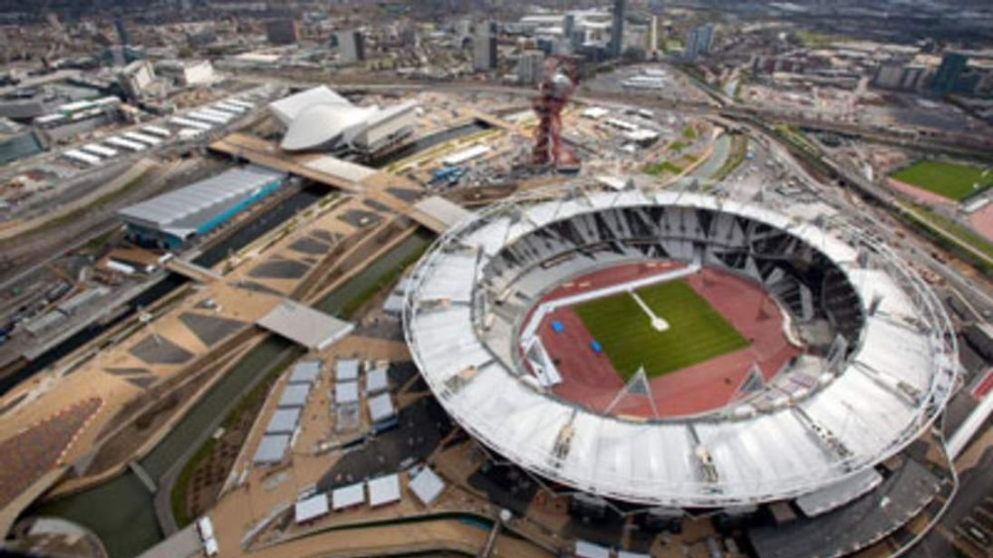 An aerial view of the Olympic Park