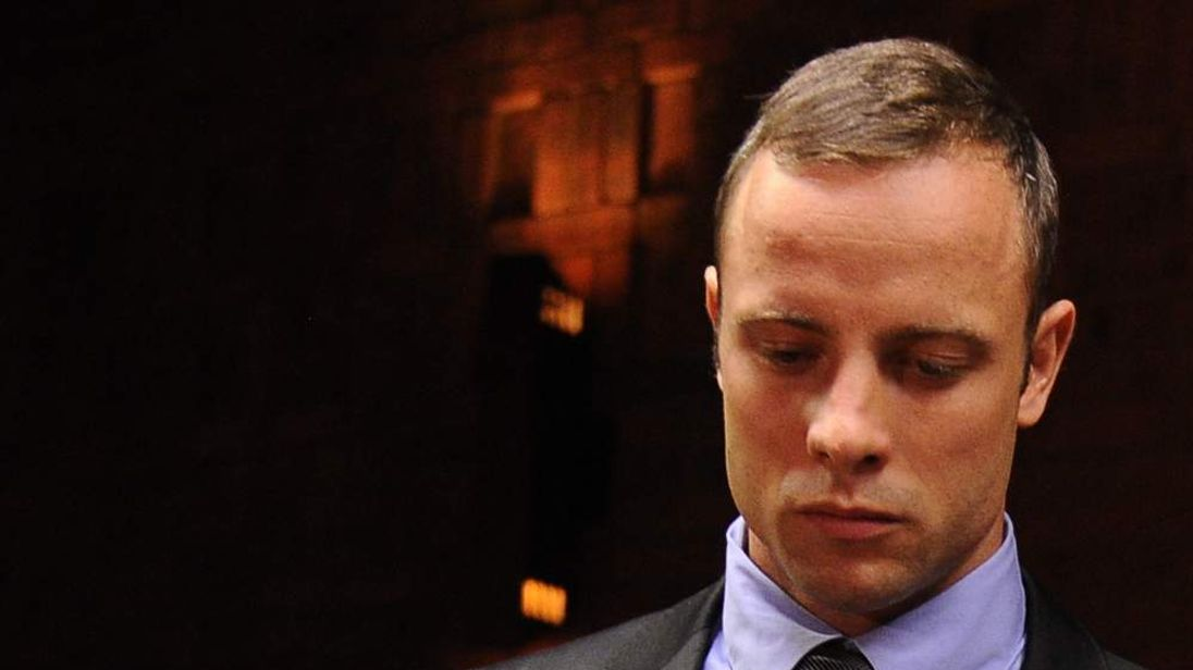 South African Olympic sprinter Oscar Pistorius appears at the Magistrate Court in Pretoria.