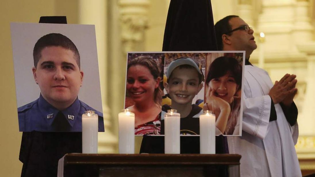 Memorials And Sunday Services Held In Honor Of Boston Bombing Victims