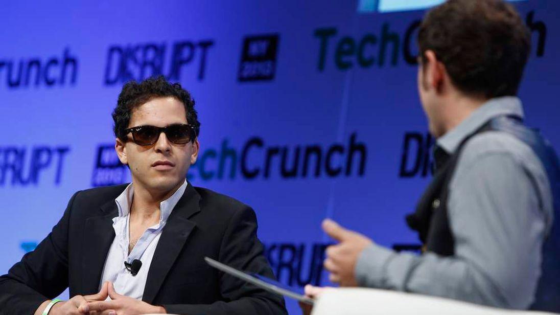Mahbod Moghadam of Rap Genius speak onstage with Josh Constine at TechCrunch Disrupt NY 2013.