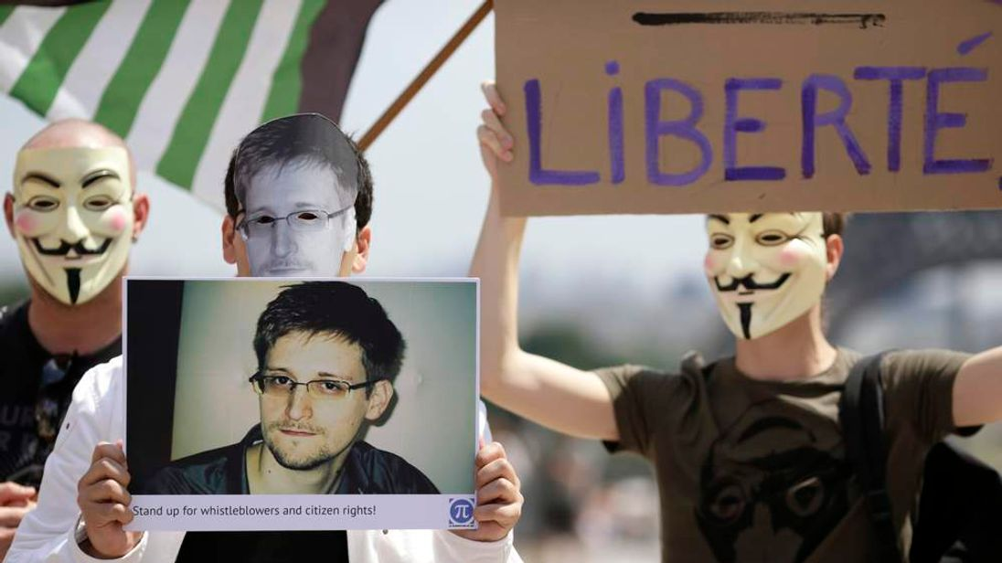 Edward Snowden demonstration