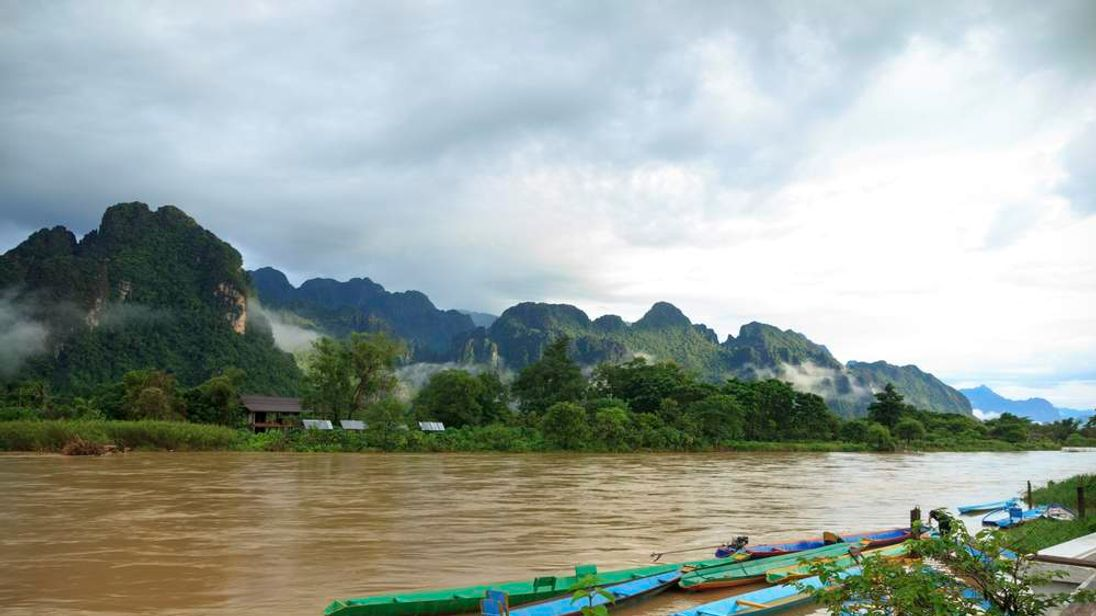 View of  The Mekong River, Laos