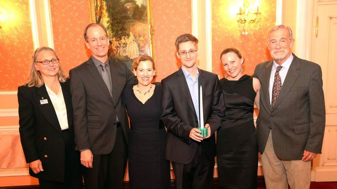Edward Snowden Receives The Sam Adams Award