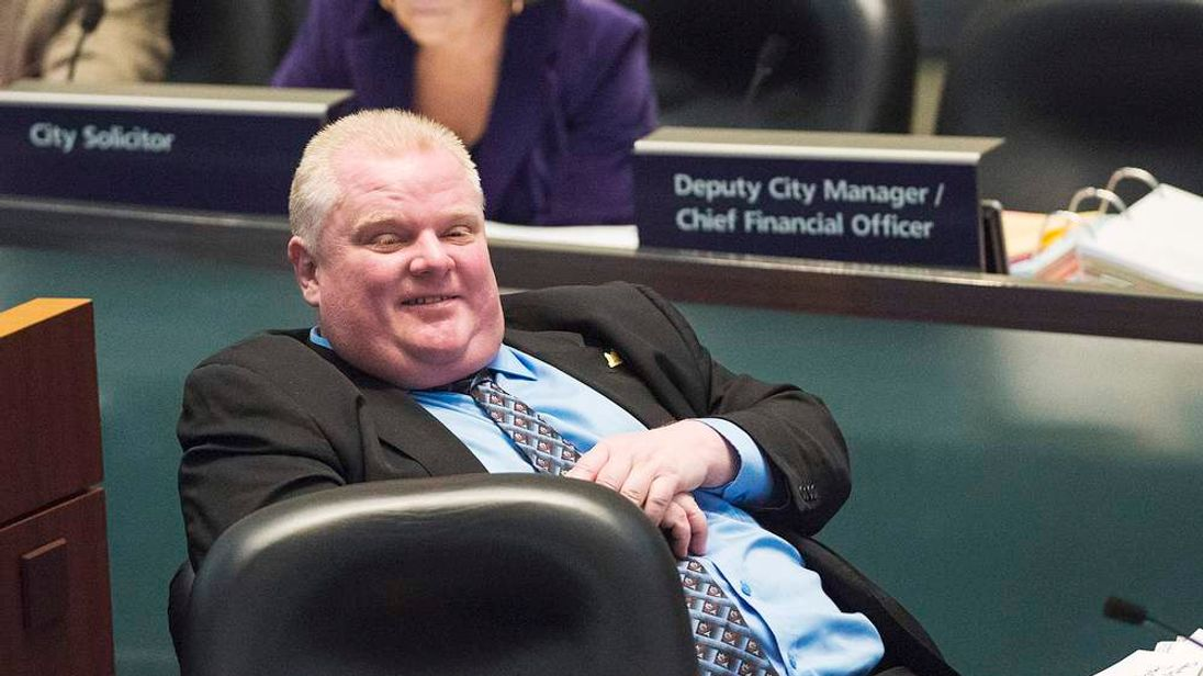 Toronto City Mayor Rob Ford