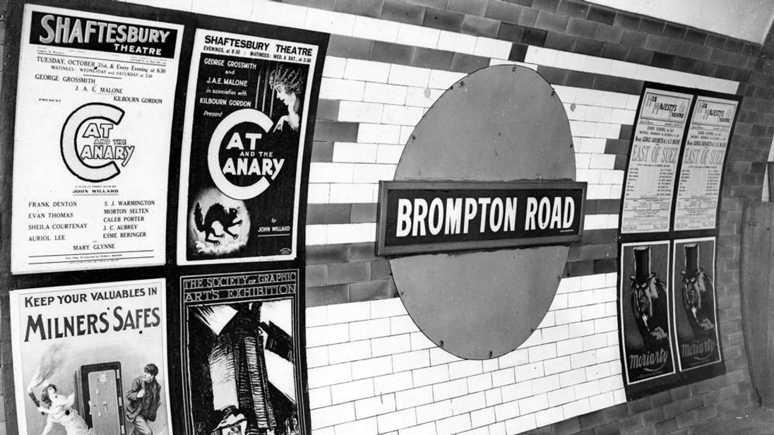 Brompton Road tube station in 1923