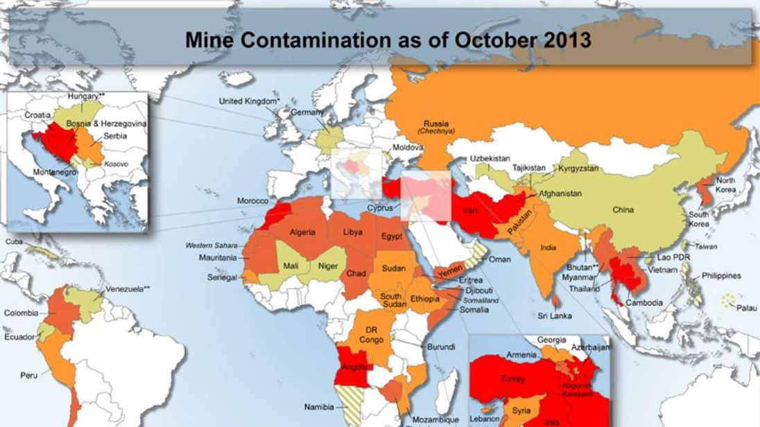Mine Contamination as of October 2013