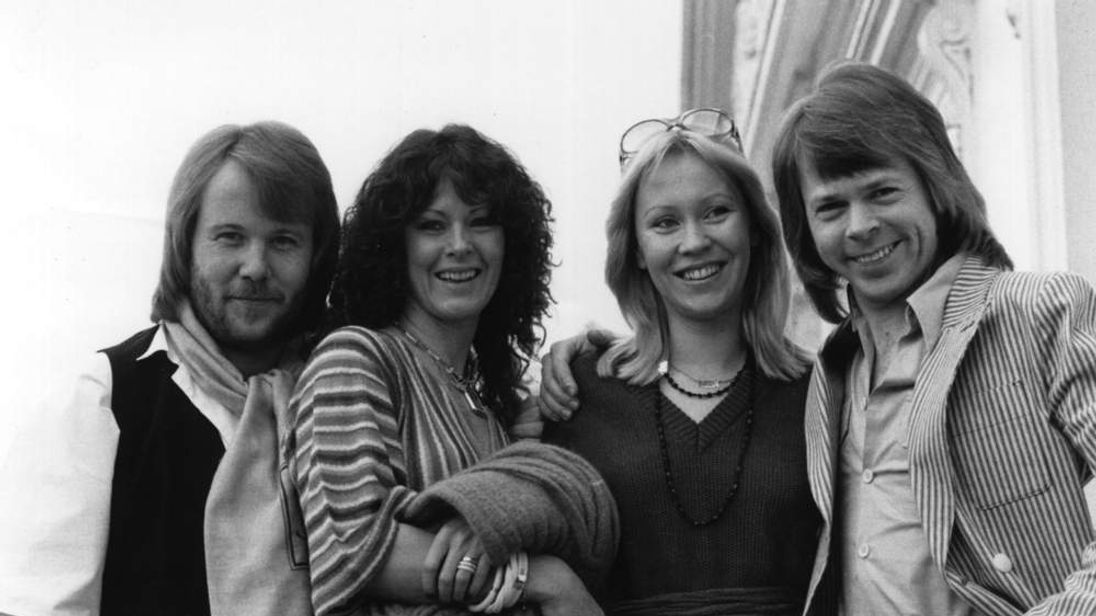 Abba - Benny, Anni-Frid, Agnetha and Bjorn - pose for the camera in 1978