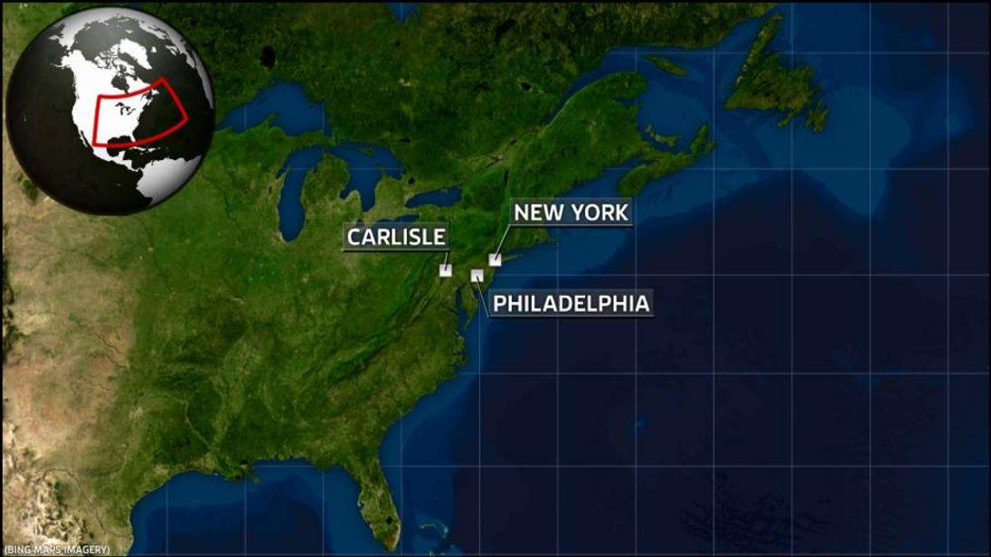 Map of Carlisle, Pennsylvania