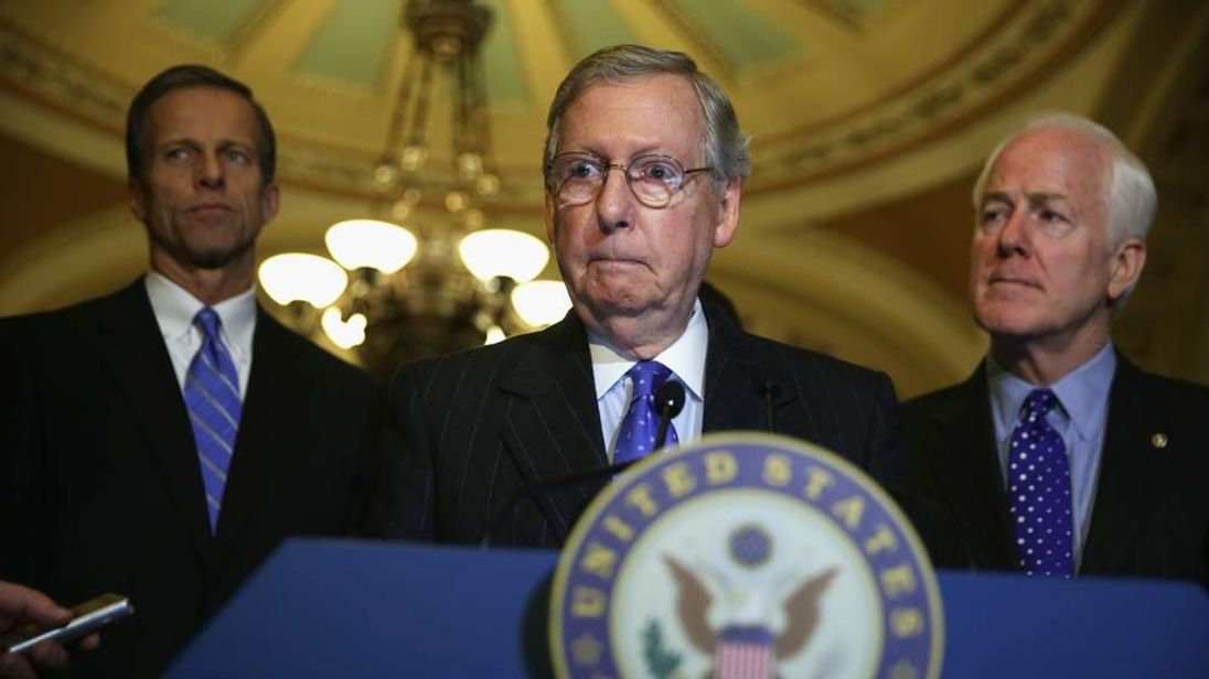 Senate Republicans Speak To Media After Weekly Policy Luncheon