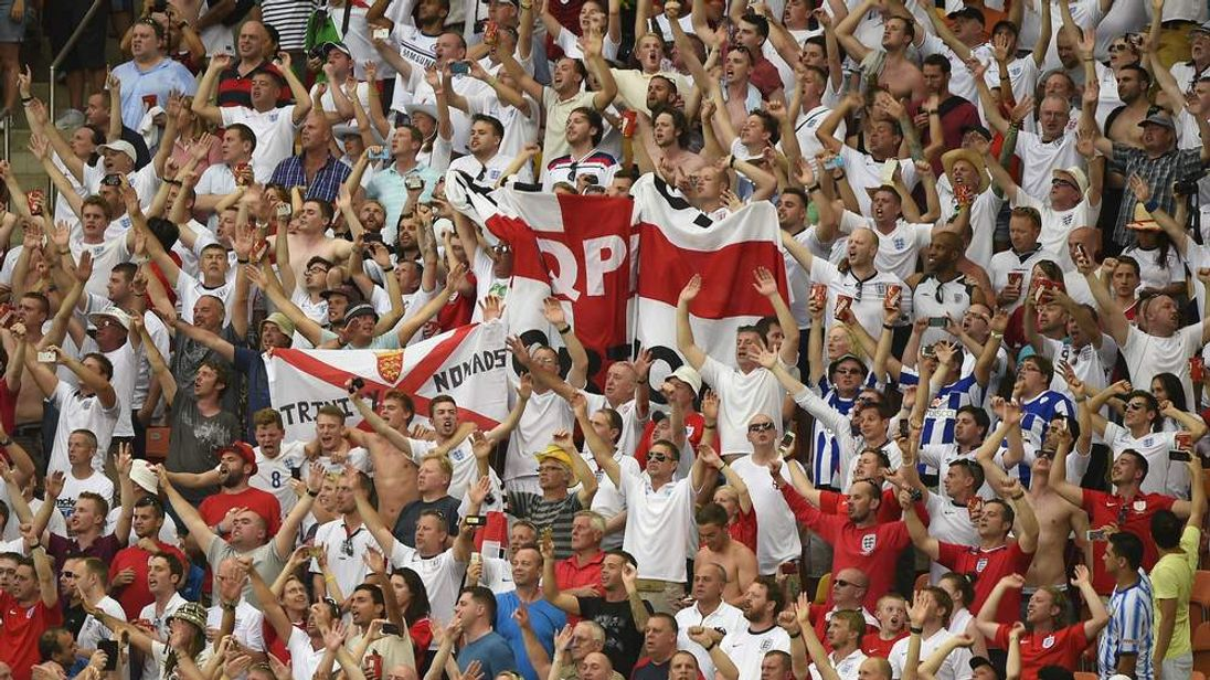 England Fans At Brazil World Cup