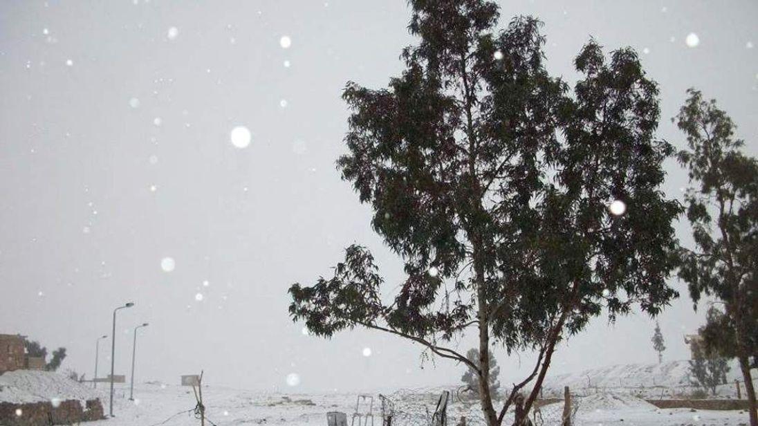 Snow in the Sinai peninsula in Egypt