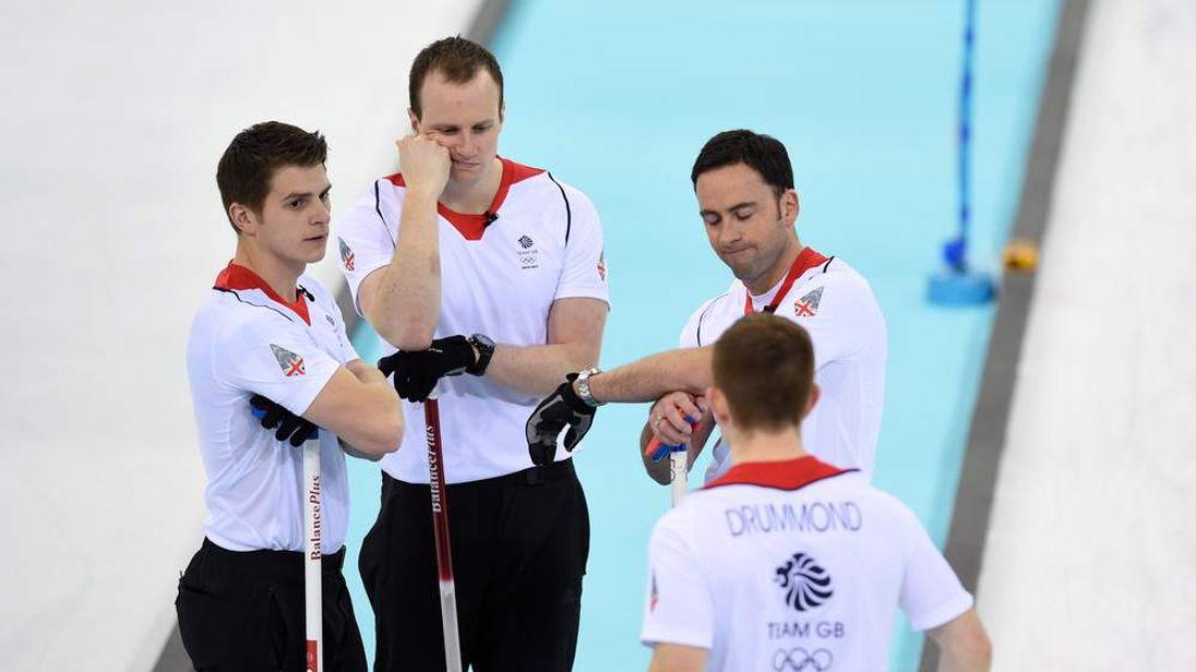 TB GB's men's curling team look glum