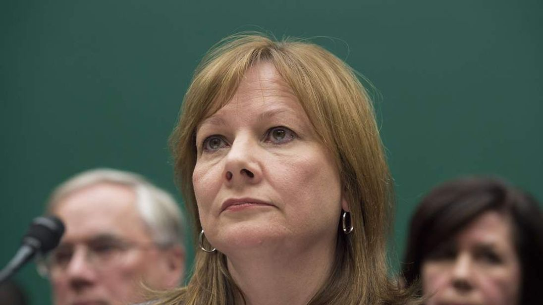 General Motors' chief executive Mary Barra gives evidence before Congress.