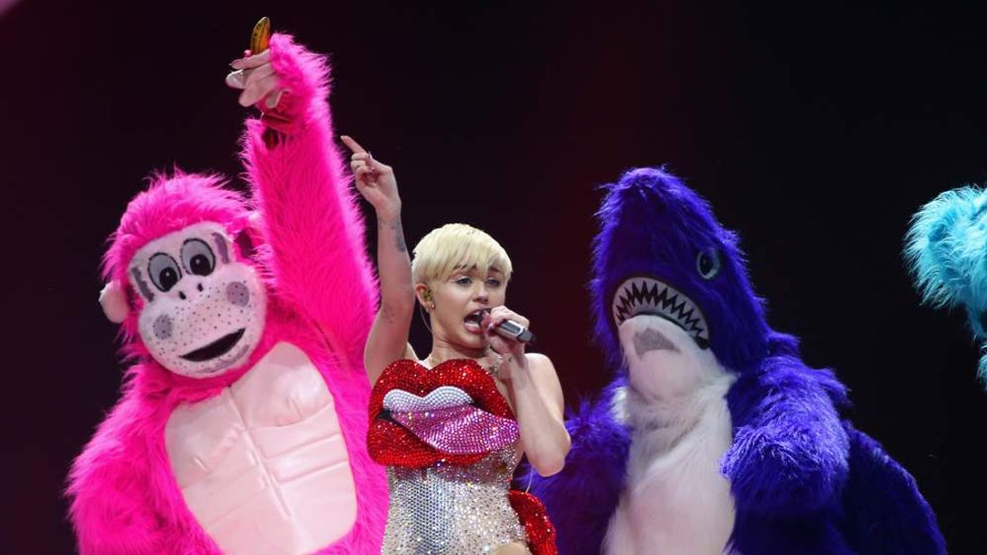 Miley Cyrus Performs At The 02 Arena