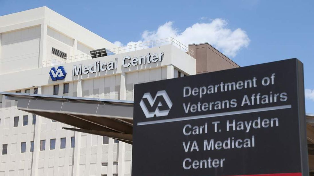 Exterior view of the Veterans Affairs Medical Center in Phoenix, Arizona