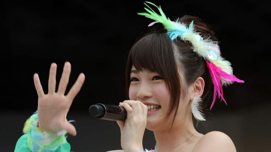 AKB48 member Rina Kawaei during the group's concert at the Yokohama stadium.