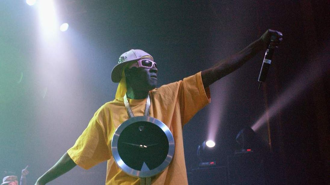Flavor Flav Performs On Stage
