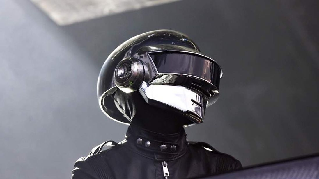 A member of French band Daft Punk perfor