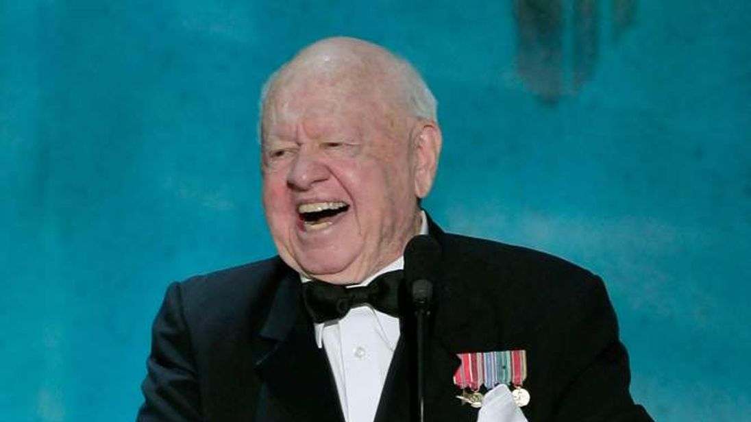 Mickey Rooney appears at the Screen Actors Guild awards in 2008
