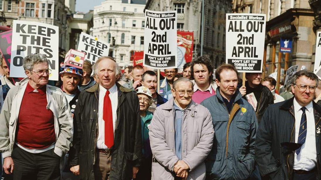 Arthur Scargill led the miners.
