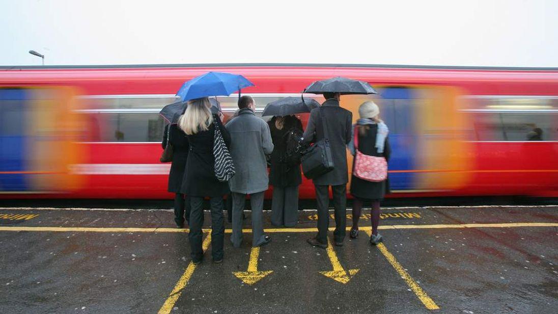 Commuter train in London