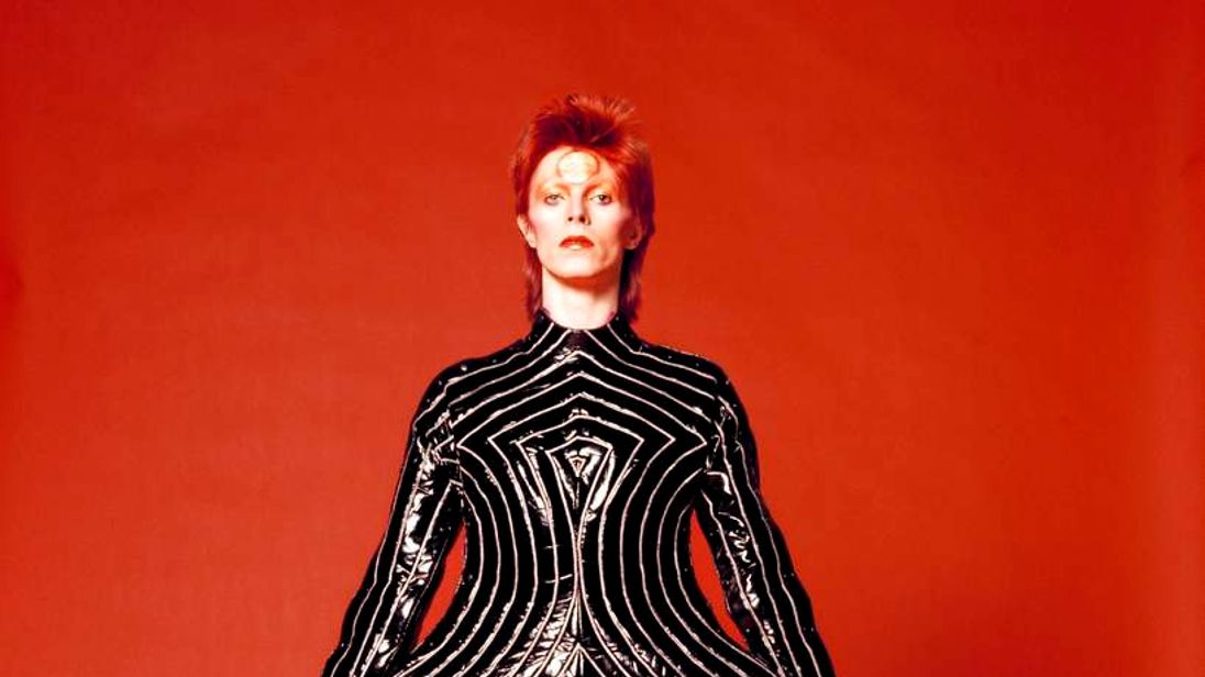 David Bowie striped bodysuit by Kansai Yamamoto for Aladdin Sane tour