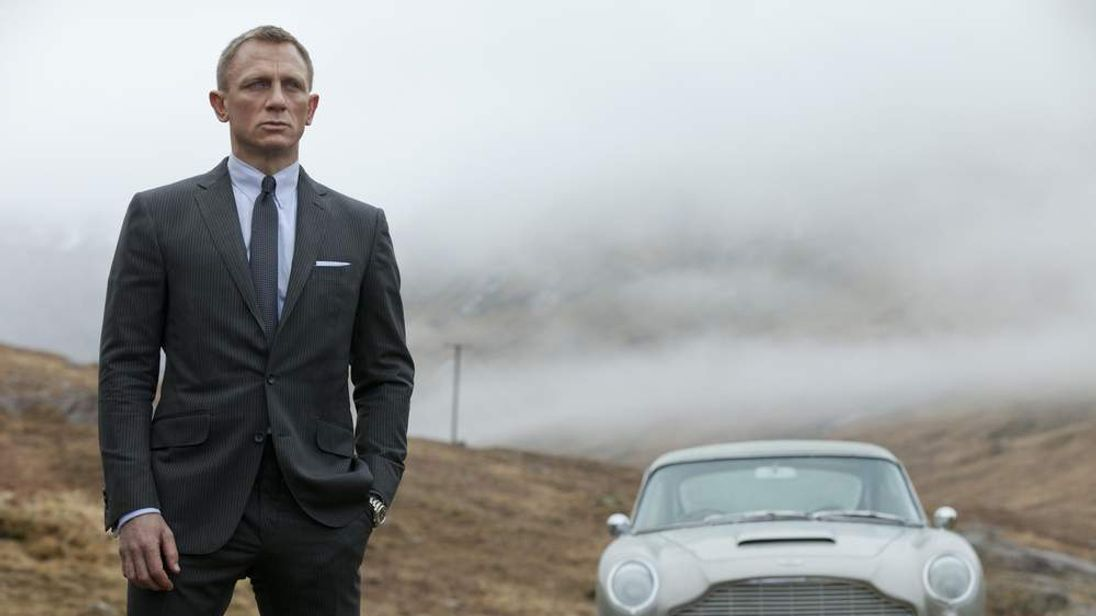 "Daniel Craig as James Bond in the latest film, ""Skyfall."""