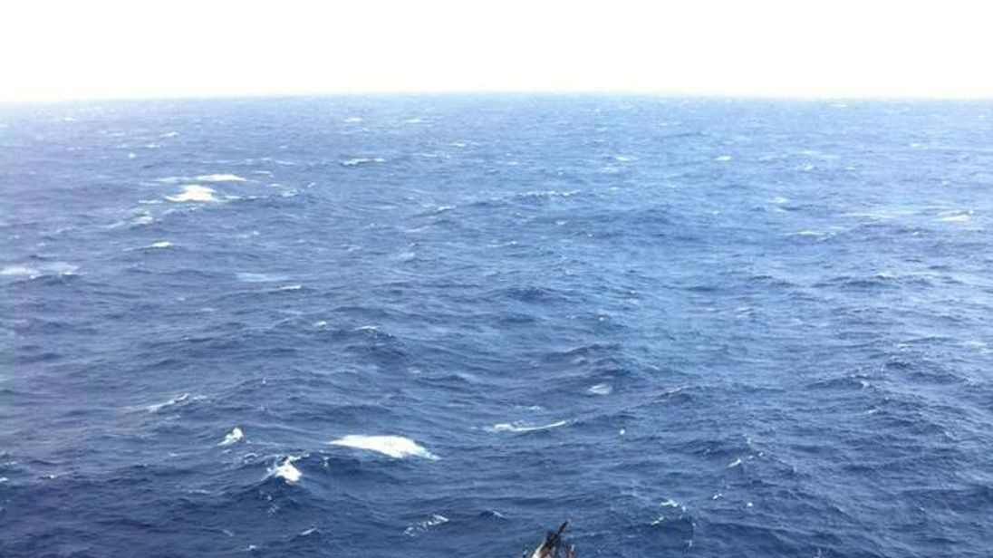 HMS Bounty Sinking After Being Hit By Storm Sandy