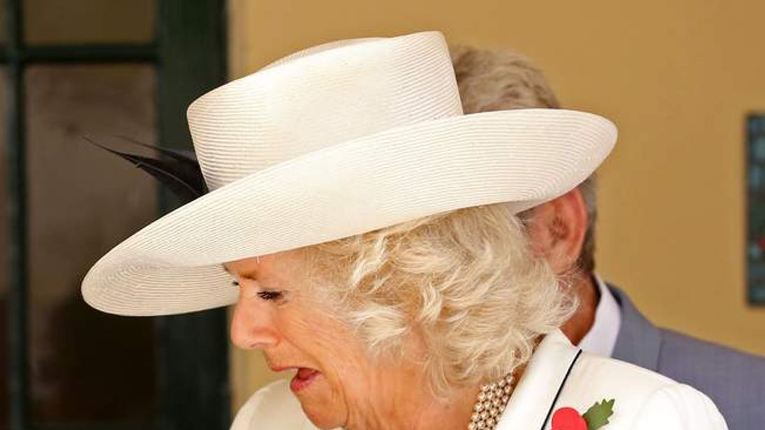 The Prince of Wales, and The Duchess of Cornwall hold Koalas