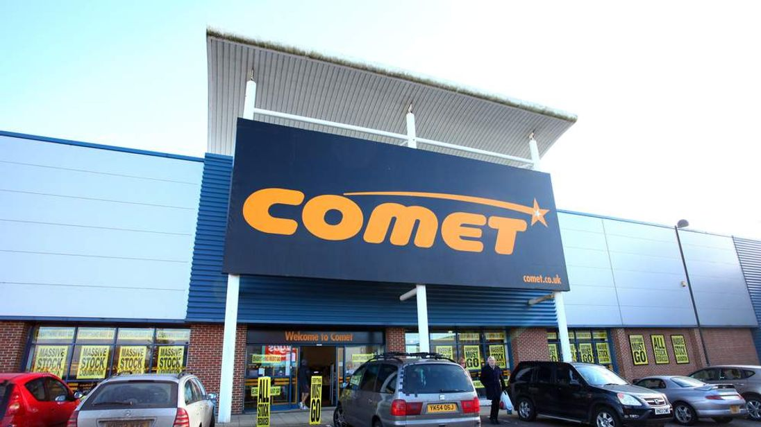 A general view of the Comet store near Ashford, Kent, following the launch of a liquidation sale as administrators move to wind down the failed retailer.