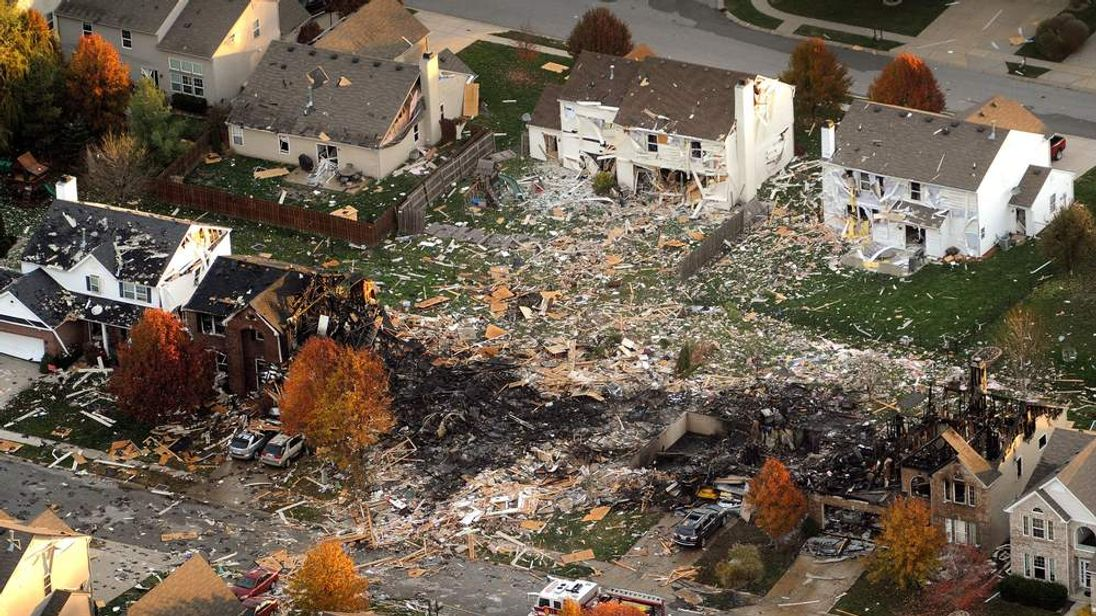 Indianapolis House explosion aerial 1