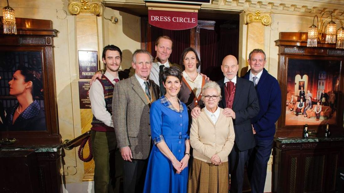The cast of a one-off performance of The Mousetrap at St Martin's Theatre in central London