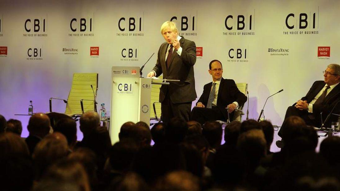 Boris Johnson CBI conference