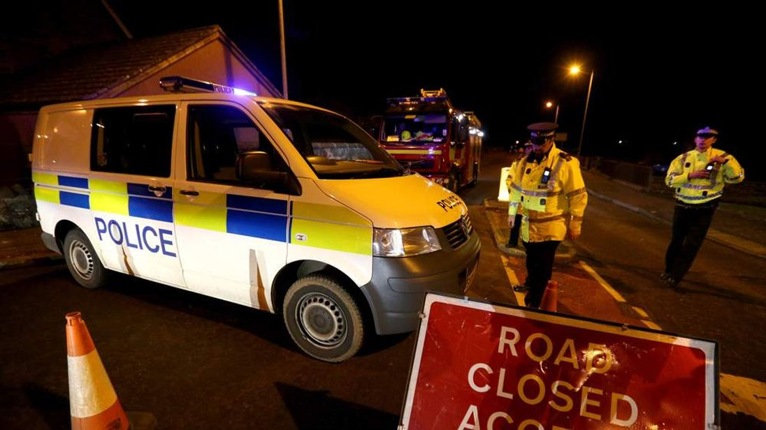Emergency services attend a gas leak in Fishcross