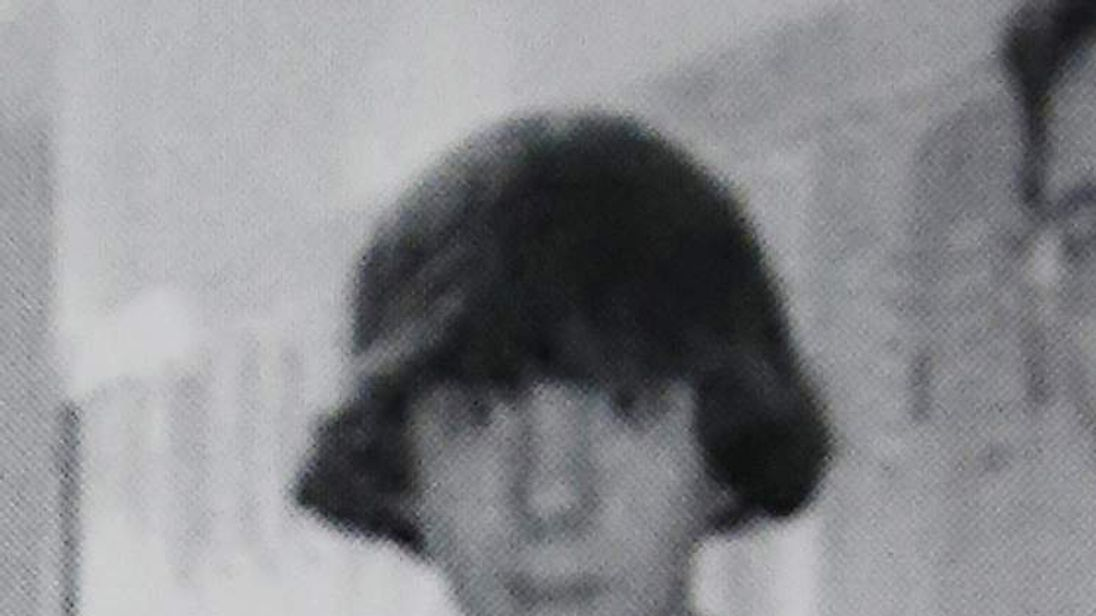 This undated photo shows Adam Lanza posing for a group photo of the technology club which appeared in the Newtown High School yearbook