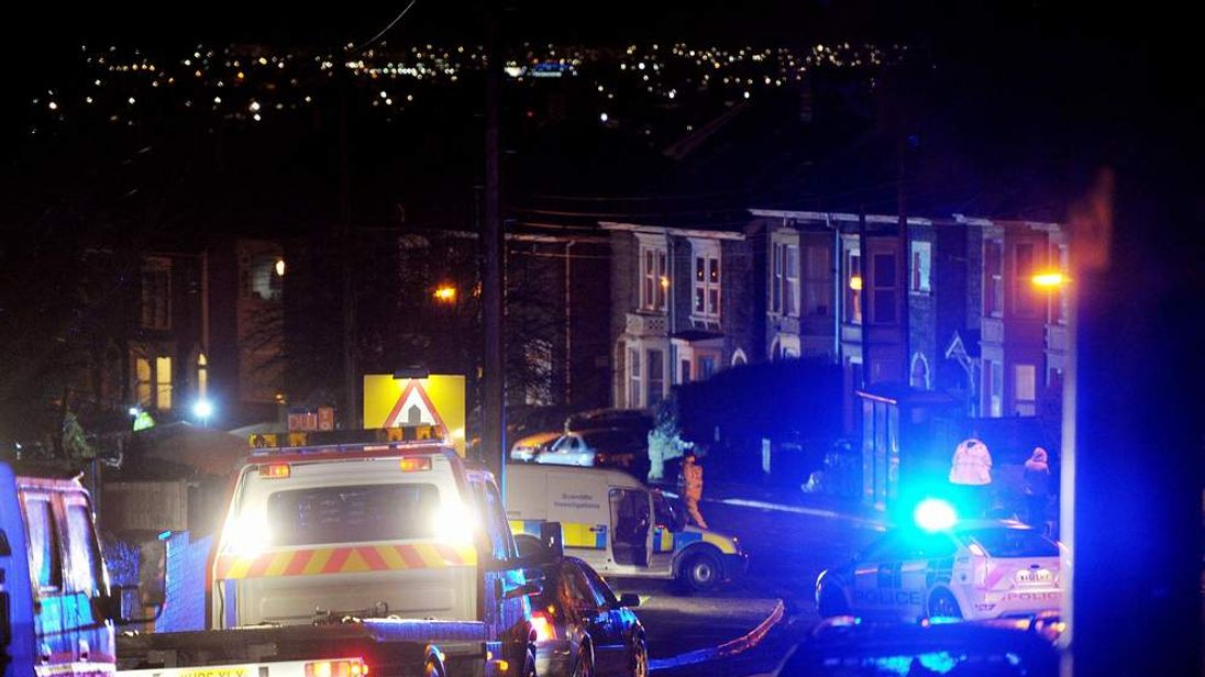 Scene of a hit-and-run crash in Lower Hanham Road, Bristol