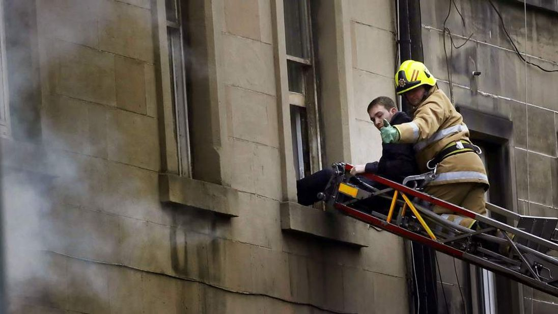 Fire in Edinburgh city centre