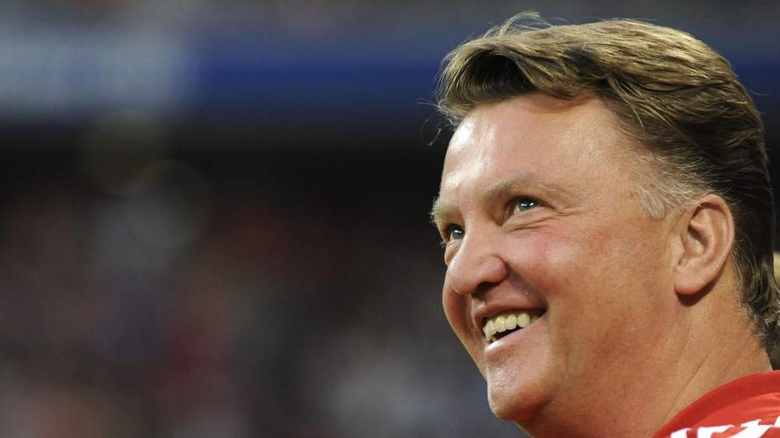 Bayern Munich's head coach Louis van Gaa
