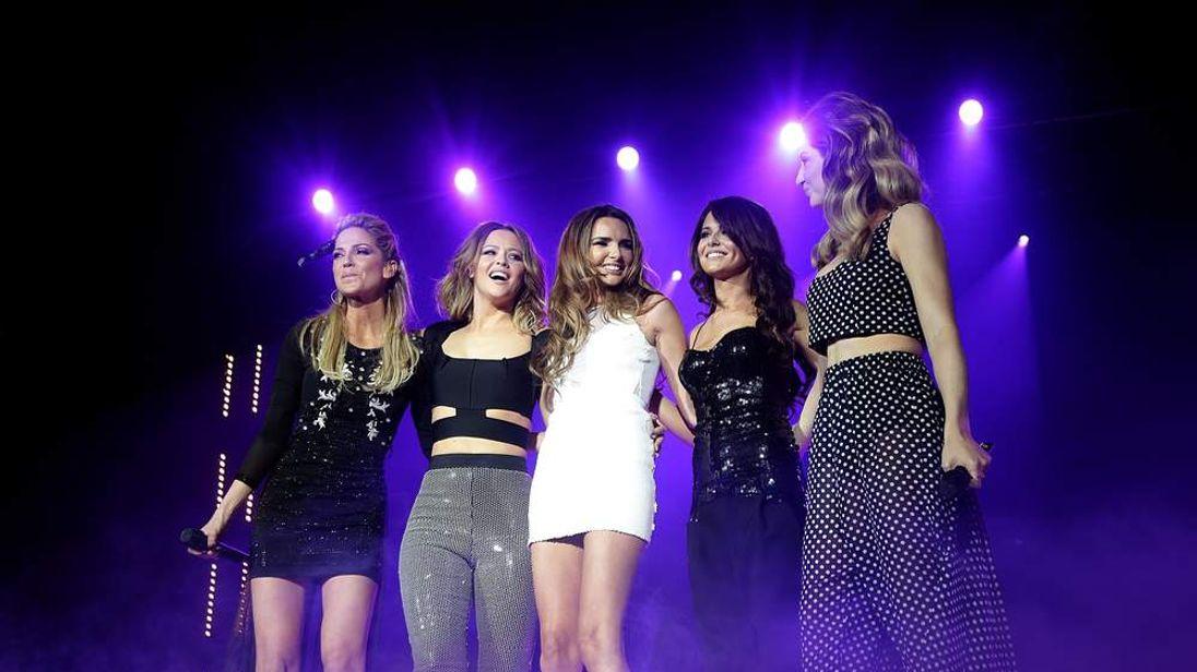 Girls Alound on stage