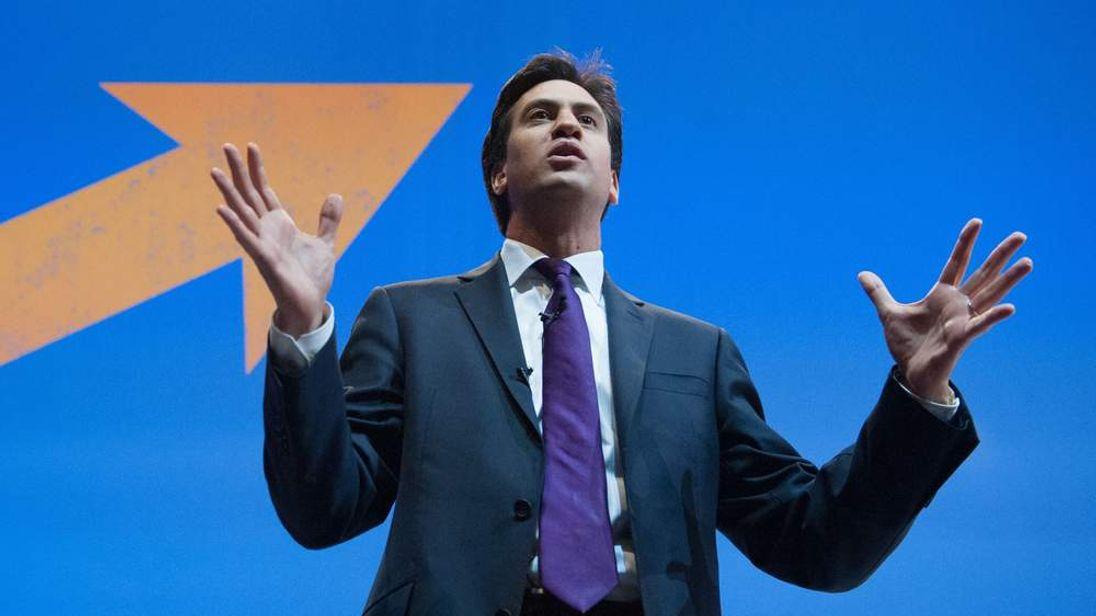 Ed Miliband addresses the TUC