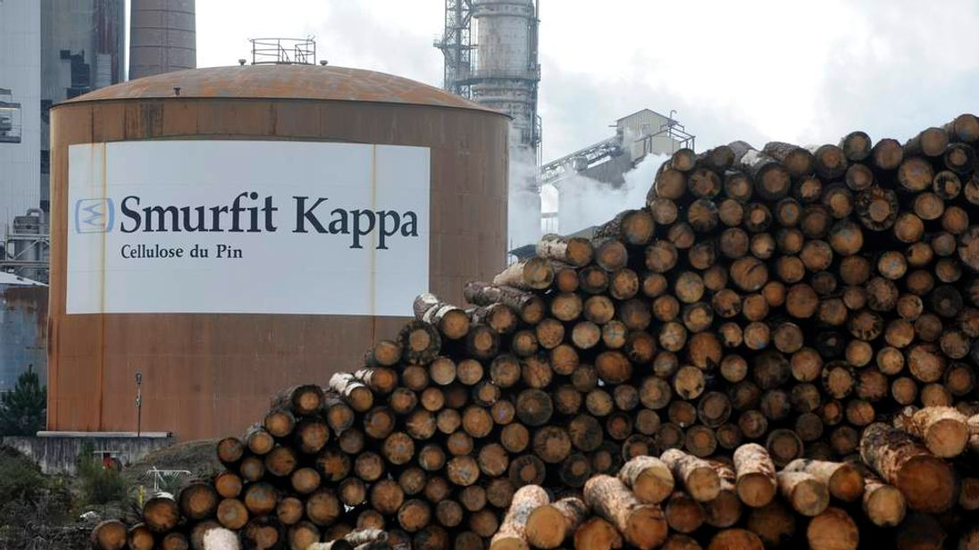 The main plant of timber mill Smurfit Kappa group at the Facture site in Biganos, southwestern France.