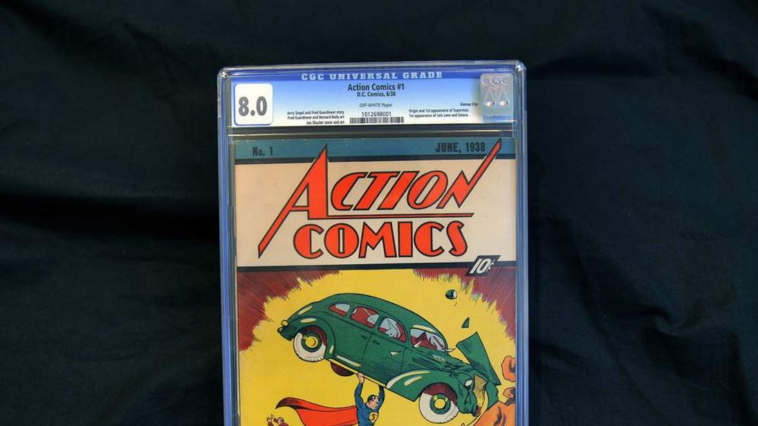 Action Comics #1 comic book of 1938 is p