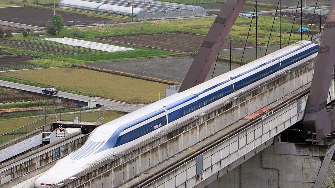 Maglev train under trial