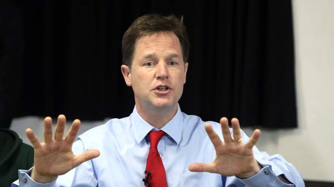 Clegg: I want to finish the job