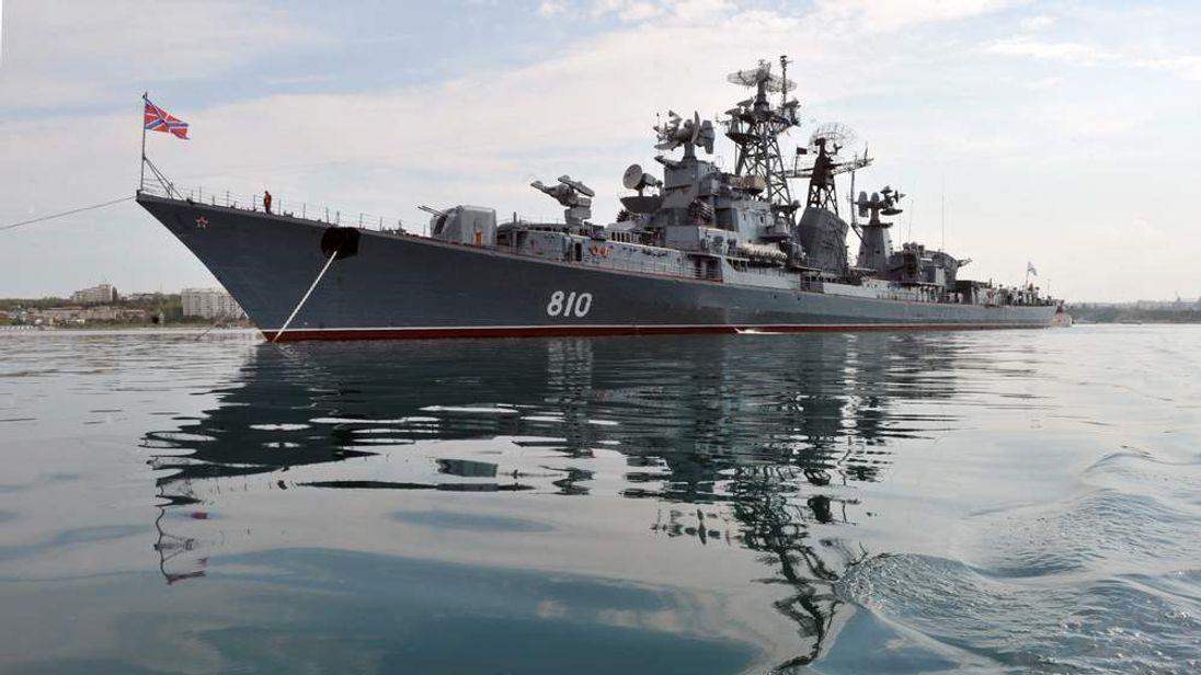 A warship from Russia's Black Sea Fleet