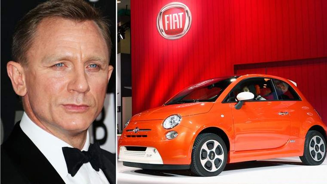 James Bond to drive a Fiat 500
